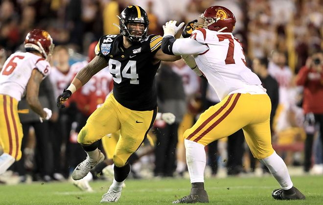 A.J. Epenesa has signed his rookie contract with the Buffalo Bills. (Getty Images)