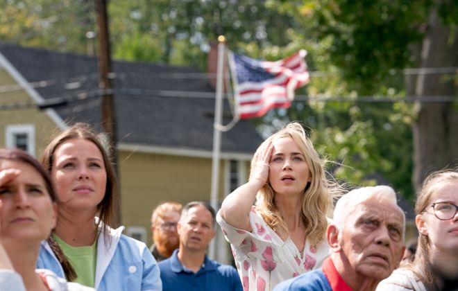 """Actress Emily Blunt is pictured in scene filmed in North Tonawanda for """"A Quiet Place Part II."""" (Paramount Pictures)"""