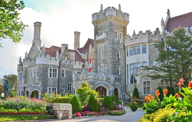 Casa Loma delivers on its medival inspiration in spades. It's stone-clad exterior features battlements, turrets and towers. (Liberty Group)