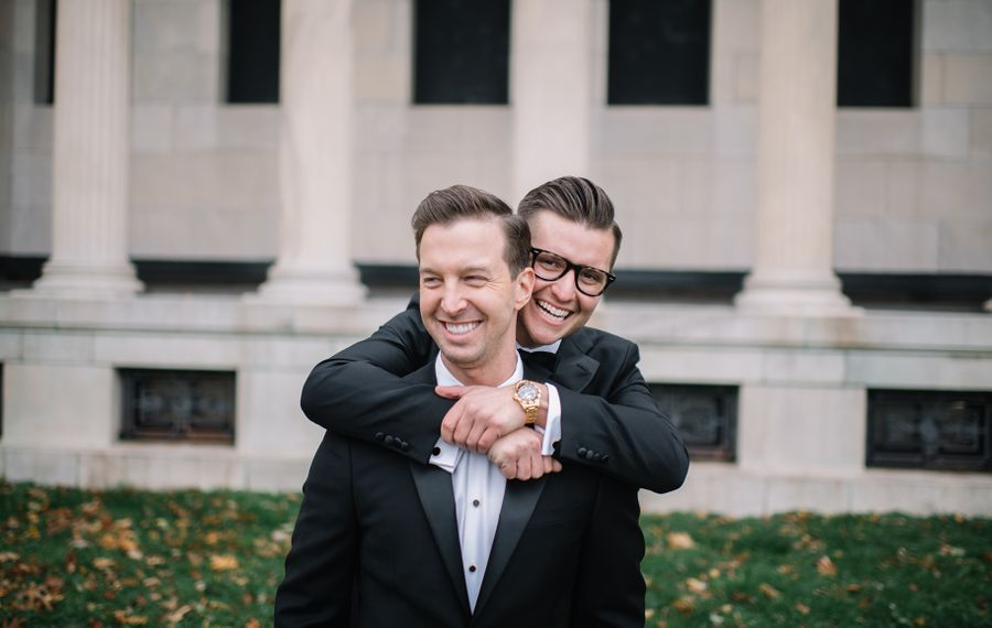 James and Ryan outside the Albright Knox Art Gallery. (Colin Gordon Photography)