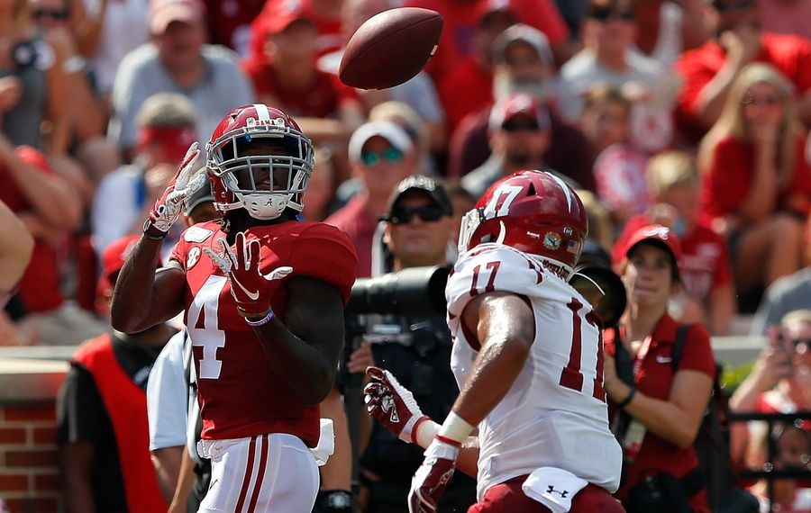 Jerry Jeudy of the Alabama Crimson Tide isn't the biggest or fastest receiver in the class, but he's got one trait in particular that sets him apart from the rest. (Kevin C. Cox/Getty Images)