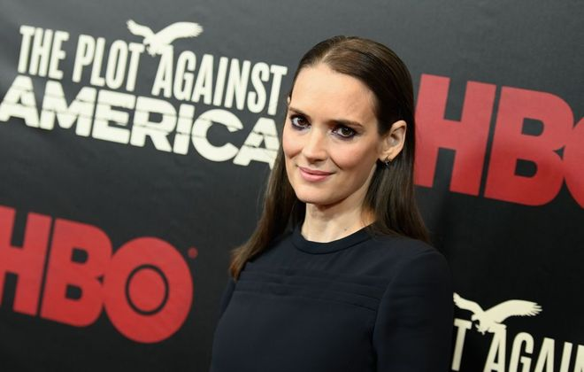"""Winona Ryder attends HBO's """"The Plot Against America"""" premiere at Florence Gould Hall on March 4, 2020 in New York City. (Angela Weiss/AFP)"""