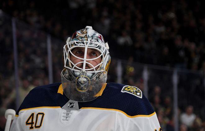 Sabres goalie Carter Hutton. (Getty Images file photo)