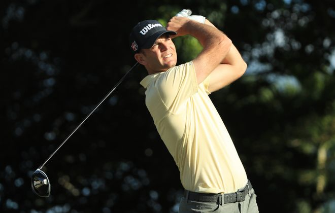 Brendan Steele has struggled on the final hole in two PGA tournaments this season (Sam Greenwood/Getty Images)