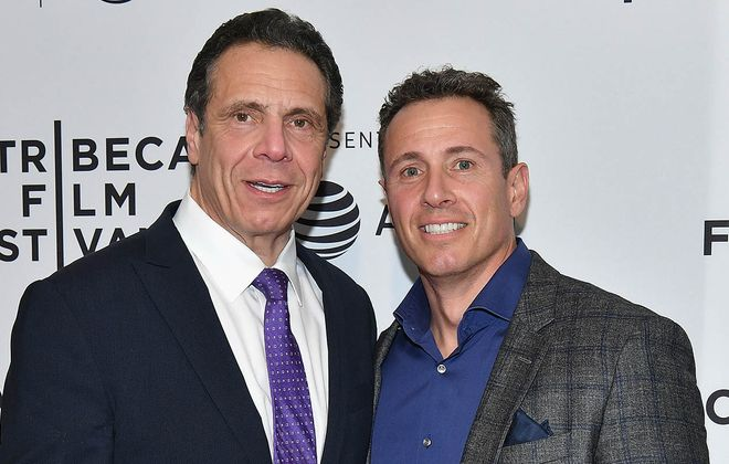 Gov. Andrew Cuomo and Chris Cuomo in 2018. (Dia Dipasupil/Getty Images for Tribeca Film Festival)