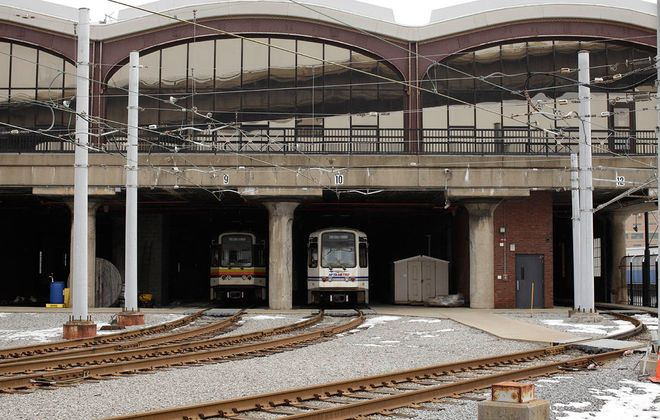 The NFTA rail yard along the Buffalo River. (Derek Gee/News file photo)