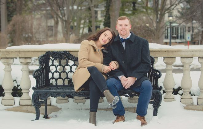Brittney Tomani and Thomas Comstock  had everything in place for their May 2 wedding in Buffalo. Now they are working on backup dates. (Photo courtesy of Lindsay DeDario)