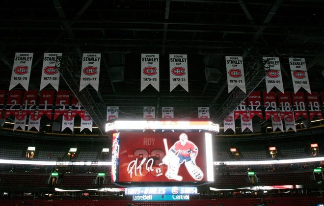 Retired numbers and Stanley Cup banners fill the rafters in Montreal's Bell Centre (Getty Images file photo).