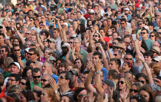 It will be a while before we see a scene like this at an outdoor summer concert. (Sharon Cantillon /News file photo)