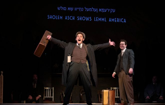 """Jordan Levin, Adam Yellen perform in """"Indecent"""" at Kavinoky Theatre with the Jewish Repertory Theatre.  (Photo by Gene Witkowski)"""
