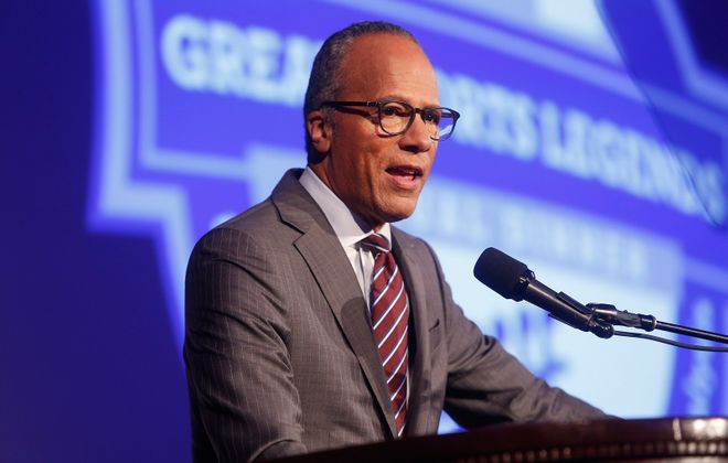 """Western New York viewers are watching Lester Holt and the """"NBC Nightly News"""" in greater numbers than other national newscasts. (Thos Robinson/Getty Images for The Buoniconti Fund)"""