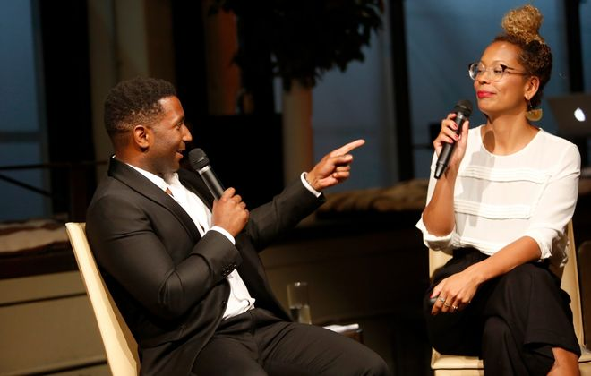 "Cultural critics Wesley Morris and Jenna Wortham talk TV, film, music, the internet and more in their podcast ""Still Processing.""  (Getty Images)"