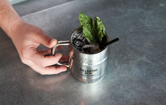 At Tappo, the addition of loganberry simple syrup in the Logan Mule puts a twist on the classic Moscow Mule. (Photo courtesy of Tappo)