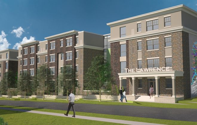 The latest version of the Lawrence design, along Maple Street. (Image courtesy of Symphony Property Management)