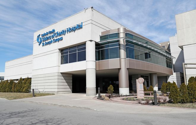 Sisters of Charity Hospital's St. Joseph Campus on Harlem Road in Cheektowaga was converted by Catholic Health to only treat Covid-19 patients. (Robert Kirkham/Buffalo News)