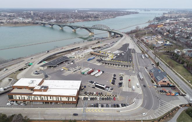 The Peace Bridge border crossing between the United States and Canada in Buffalo. (Derek Gee/Buffalo News)