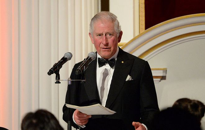 Prince Charles, Prince of Wales makes a speech as he attends a dinner in aid of the Australian bushfire relief and recovery effort at Mansion House on March 12, 2020, in London, England. (Eamonn M. McCormack/WPA Pool/Getty Images)