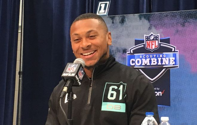 Antoine Winfield Jr. at the NFL scouting combine. (Buffalo News file photo)
