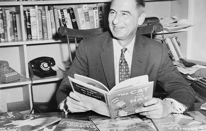 Dr. Seuss in 1957 (New York World Telegram & Sun photo by Al Ravenna).