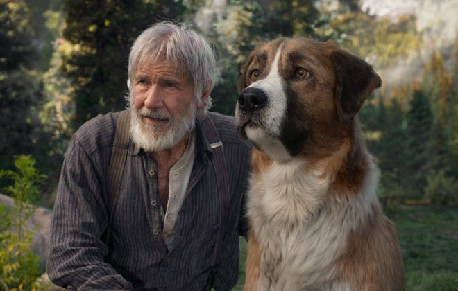 """The Call of the Wild,"" starring Harrison Ford and friend is one of the major Hollywood films that has gotten an early release on digital platforms for families to watch at home. (Twentieth Century Fox)"