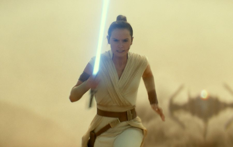 """Daisy Ridley is seen training for her role as Rey in the bonus documentary on the new DVD for """"Star Wars: The Rise of Skywalker."""" (Lucasfilm Ltd.)"""