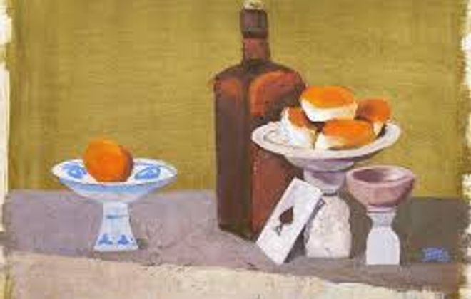 """Still Life with the Ace of Spades,"" oil painting by California artist Beverly Hackett (1963)."