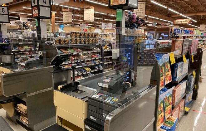 Wegmans has begun installing plexiglass on all registers at its stores. (Contributed photo)