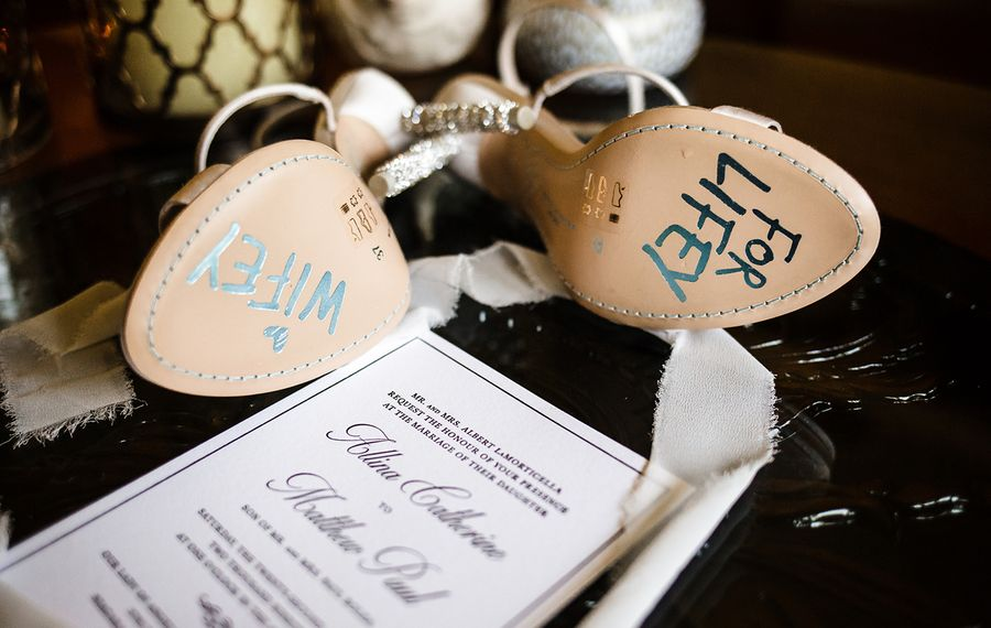 These Sophia Webster shoes feature a sweet hidden sentiment. (Vita Bella Photography)