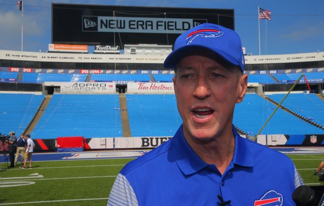 Buffalo Bills Hall of Famer Jim Kelly got slammed on Twitter when he tweeted an endorsement of family friend Beth Parlato in the race for the vacant 27th Congressional District seat. (John Hickey/News file photo)