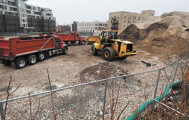 "A new parking ramp, apartments and offices still are planned for the former Millard Fillmore Hospital site at Gates Circle, despite a court ruling blocking efforts to designate the site as ""blighted"" so developers could get tax abatements. (John Hickey/News file photo)"