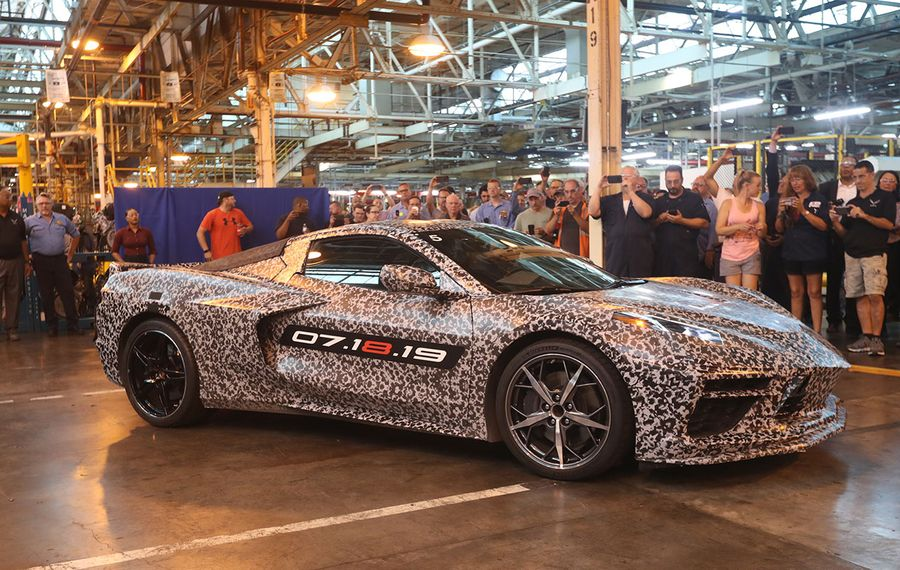 The new Corvette was featured at the GM Tonawanda engine plant last year. (John Hickey/News file photo)