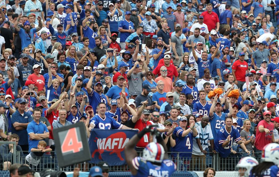 The stands at Nissan Stadium in Nashville were filled with Bills fans on Sunday, Oct. 6, 2019.  (James P. McCoy/Buffalo News)