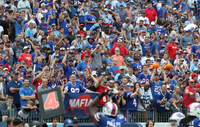 The stands at Nissan Stadium in Nashville were filled with Bills fans on Oct. 6, 2019.  (James P. McCoy/Buffalo News)