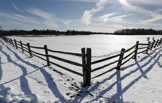 A pastoral scene reveals itself on a winter walk at Knox Farm State Park. (Sharon Cantillon/News file photo)