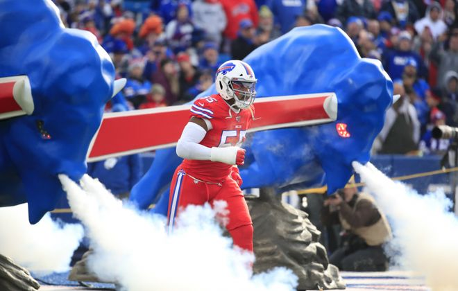 Bills linebacker Jerry Hughes is eager to take the big playoff stage again.  (Harry Scull Jr./News file photo)