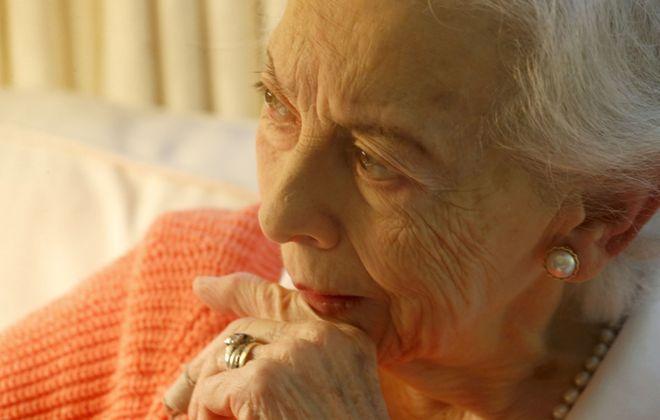 At 94, Nan Clarkson at her longtime home in Buffalo, near Delaware Avenue. (Robert Kirkham/Buffalo News)