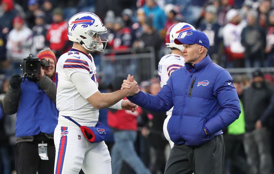 Bills head coach Sean McDermott wants quarterback Josh Allen to take some time to get away from football before he begins his offseason program. (James P. McCoy/News file photo)