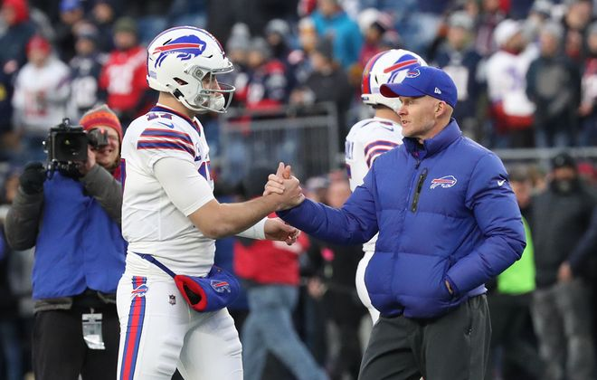 Led by quarterback Josh Allen and coach Sean McDermott, the Buffalo Bills have high expectations for the 2020 season. (James P. McCoy/News file photo)