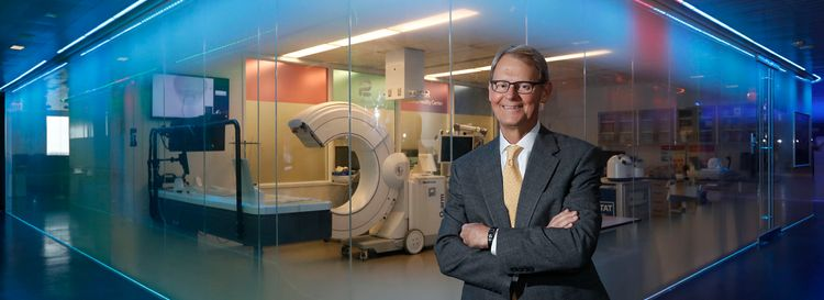 Dr. Nick Hopkins is founder and chief scientific officer of the Jacobs Institute on the Medical Campus. (Sharon Cantillon/Buffalo News)