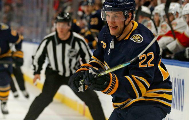 Buffalo Sabres' Johan Larsson. (Robert Kirkham/Buffalo News)