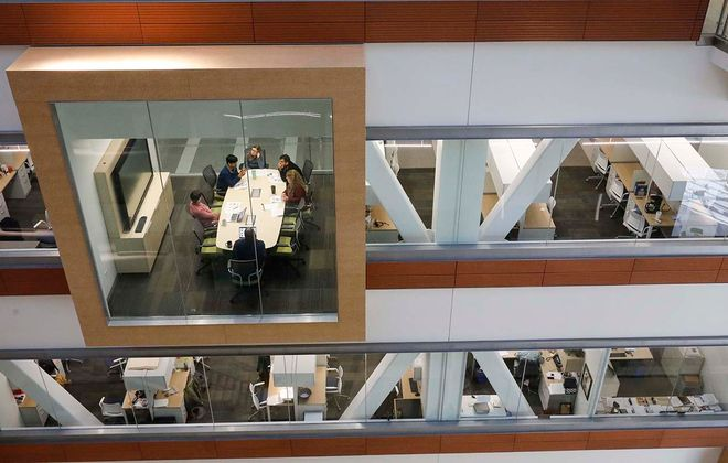 The Jacobs School of Medicine and Biomedical Sciences was the signature piece of the UB 2020 vision. (Derek Gee/Buffalo News)