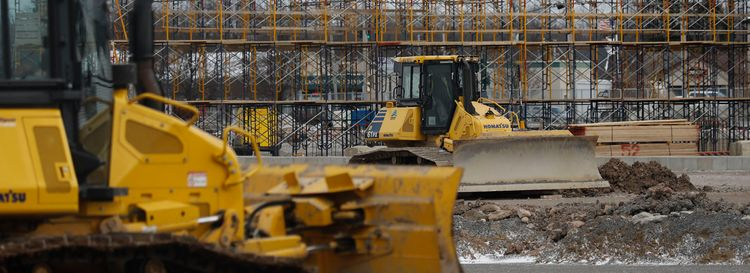 Northtown Plaza on Sheridan Drive in Amherst is changing shape as construction is underway on WS Development's plans to transform the old shopping plaza into an upscale lifestyle center that's being branded Station Twelve. (Derek Gee/Buffalo News)