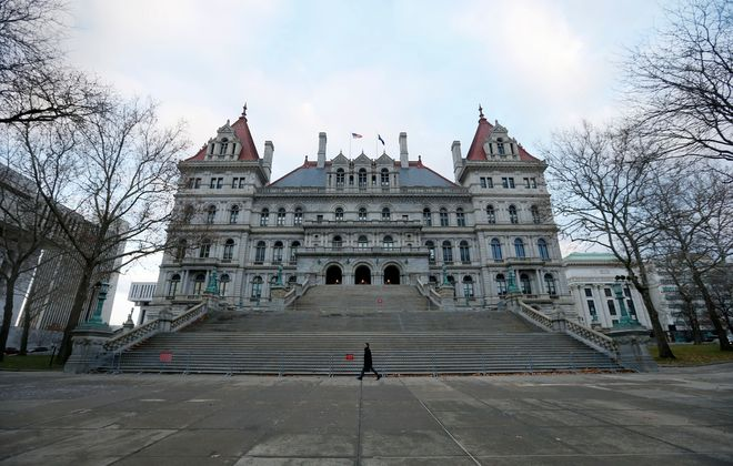 The New York State Capitol in Albany.        (Mark Mulville/Buffalo News)