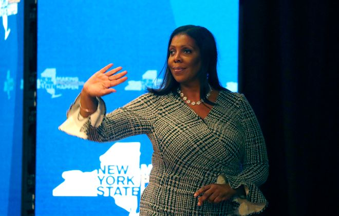 New York State Attorney General Letitia James.        (Mark Mulville/News file photo)