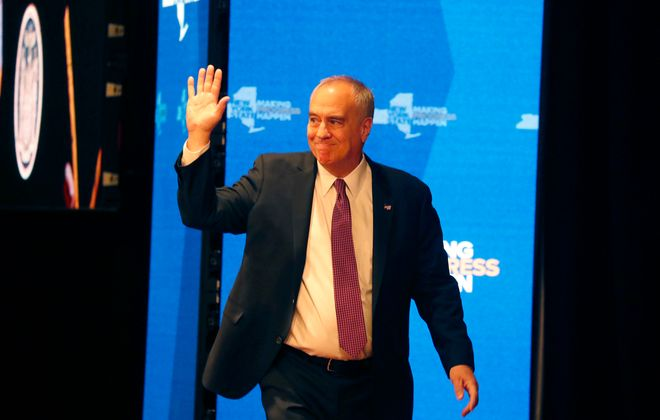 When Comptroller Thomas DiNapoli took the stage at the State of the State address in January, the impact of the novel coronavirus was weeks away. Now it's here and he says the state needs financial help from Washington. (Mark Mulville/News file photo)