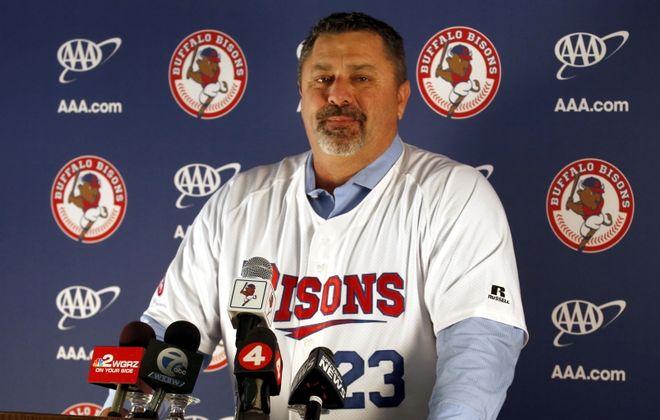 Ken Huckaby is the 21st manager of the Buffalo Bisons in the modern era. (Robert Kirkham/Buffalo News)