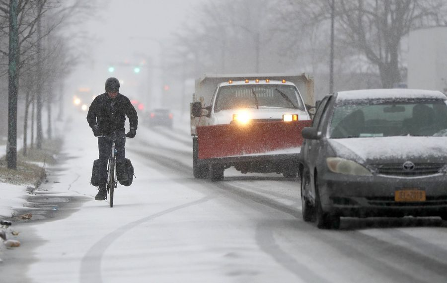 Winter storm brings snow, sleet and high winds