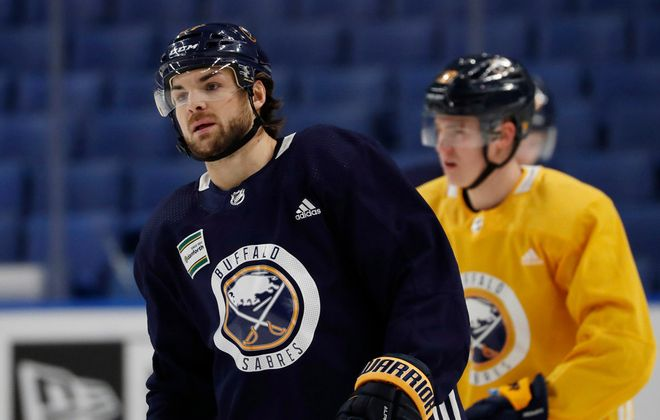 Sabres forward Michael Frolik waived his no-trade clause in January, agreeing to come to Buffalo after five seasons with Calgary. (Sharon Cantillon/Buffalo News)