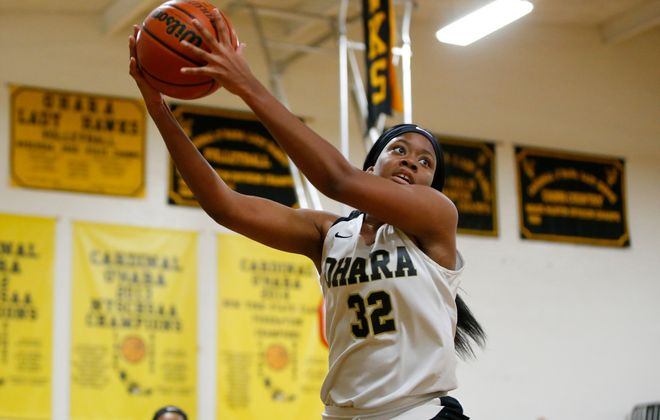 Amelia Strong led Cardinal O'Hara in points and rebounds en route to earning second team All-Western New  York honors as a junior. (Harry Scull Jr./Buffalo News)