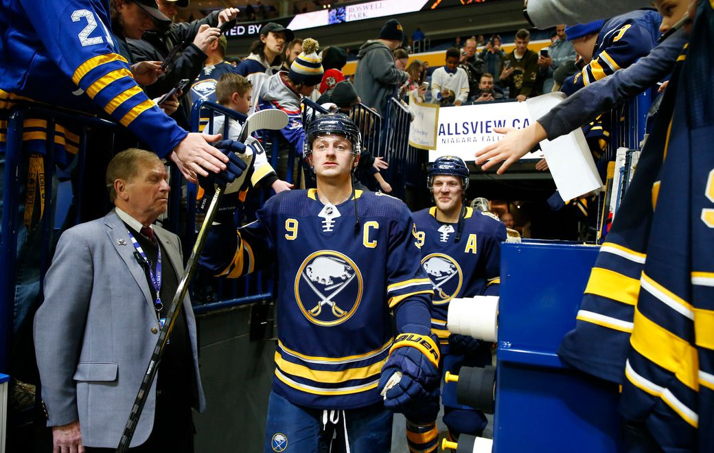 """""""You have to remember you can only control so much and you can only do what you can do, so that's kind of the message I try to tell myself every day,"""" Jack Eichel says. (Harry Scull Jr./Buffalo News)"""